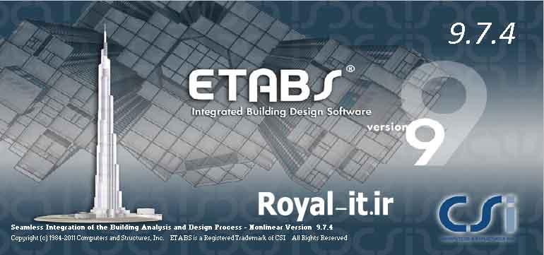 دانلود نرم افزار Etabs 9.7.4